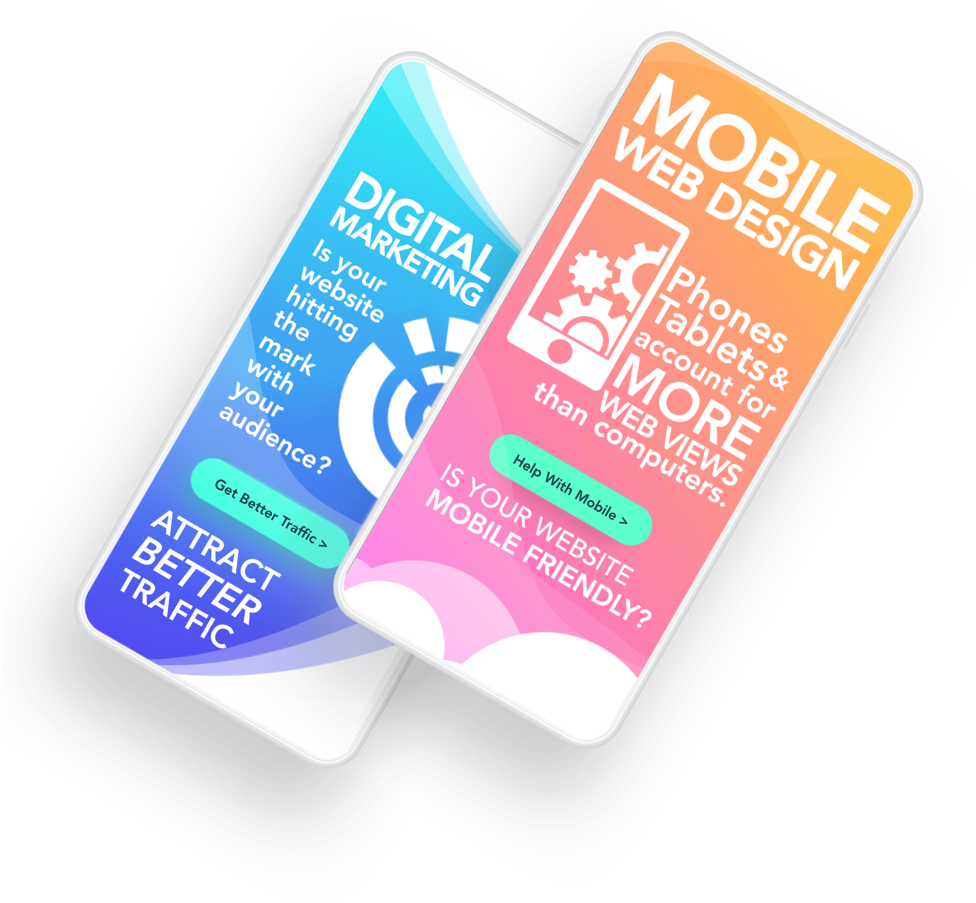 we help with digital marketing and mobile web design
